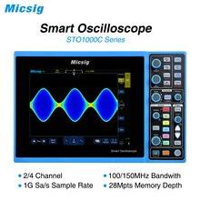 Micsig цифровой умный осциллограф 100 МГц 2CH 4CH ручной автомобильный осциллограф osciloscopio STO1000C