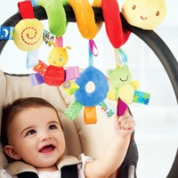 Infant Babyplay Activity Spiral Bed Stroller Toy With BB Device Hanging Crib Rattle Baby Kids Toys