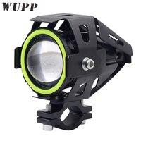 Wupp Dc12V-80 В U7 LED Двигатель цикл фар преобразования Spotlight 125 Вт 3000Lm Spotlight Двигатель LED трансформатор с зеленый ангел глаз