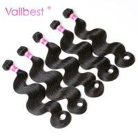 Brazilian Body Wave Bundles 100% Human Hair Weave Extension Brazilian Hair Weave 100g/Piece Natural Black Vallbest Non Remy Hair