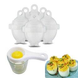 6 sztuk/zestaw kuchenki do jajek/twarde gotować gotowane jajka kuchenka bez muszli omlet formy + separator jaj kuchenne narzędzia kuchenne