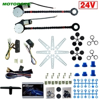 MOTOBOTS 1Set 24V Car/Truck Universal 2 Doors Electric Power Window Kits with 3pcs/Set Switches and Harness