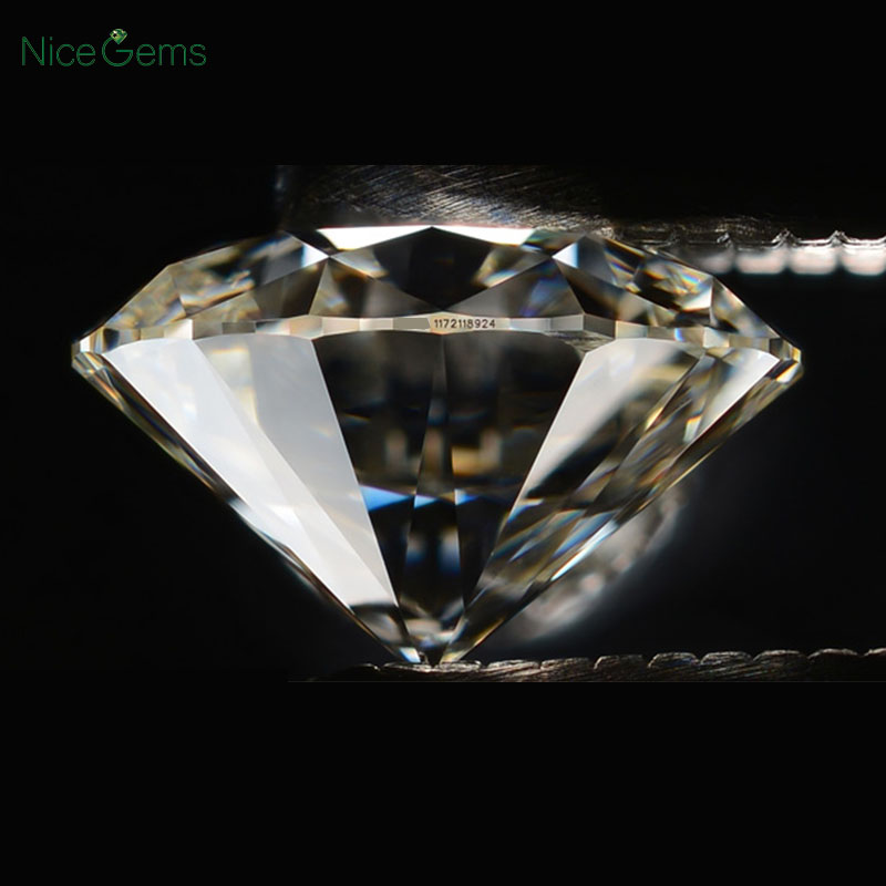 NiceGems D Color Moissanite 0.5CTW 3EX Hearts And Arrows 5MM Moissanites Loose Gems Colorless Lab Grown Diamond loose Stone VVS1 1