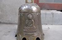 10 Tibet Folk Buddhism temple Copper Dragon play phoenix Guan Yin safety bell