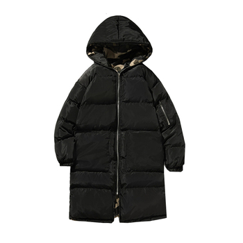 Both Sides Wear Camouflage and Black Fashion Hooded Men Jackets Men Jackets and Coats Autumn Winter Thick Warm Outwears Long Men