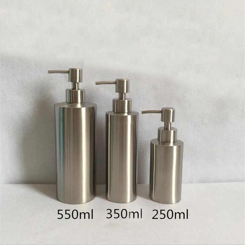 Sıvı sabunluk mutfak banyo losyonu pompa şişesi lavabo deterjan şampuanlık paslanmaz çelik 250ml 350ml 550ml