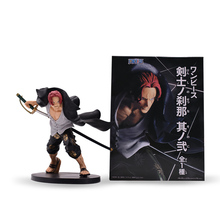 615 cm Anime One Piece Four Emperors Shanks PVC Action Figure Doll Collectible Model Baby Toy Christmas Gift For Children anime one piece figure one of the four kings shanks pvc action figure collection model toy