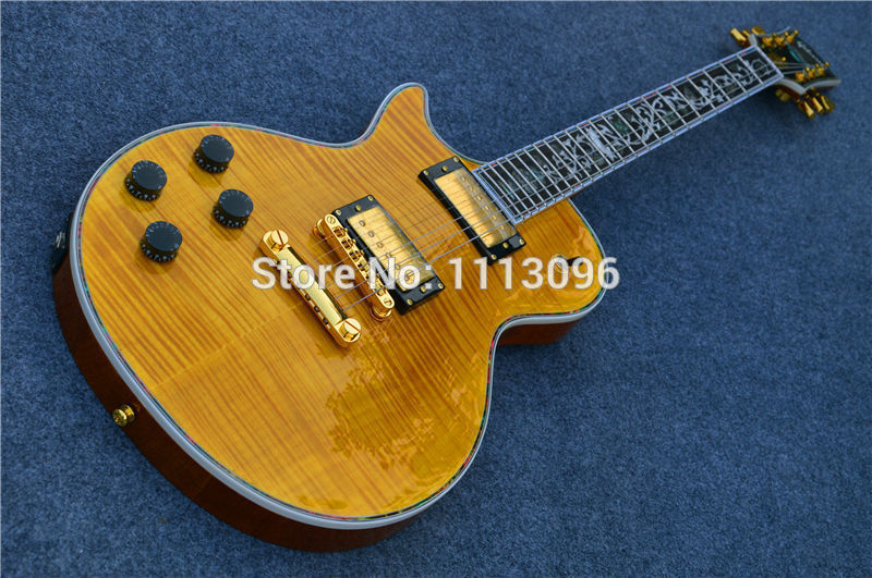 Electric guitar FREE SHIPPING LP standard OEM brand left hand ELECTRIC GUITAR/with maple flame top/guitar in china vegas left hand natural color acoustic electric guitar free bag free shipping