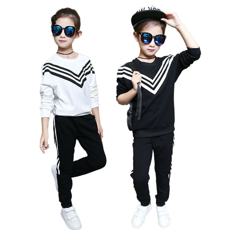 2017 Teenage Girls Clothing Sets Fashion Navy Style Sports Suit Sets For Girl Kids T Shirt + Pant Clothing Sets Children Clothes dhl equick ems shipping 6 sets girls clothing sets lots fashion kids clothing sets 2017 top jean pant 2pcs girls clothes sets