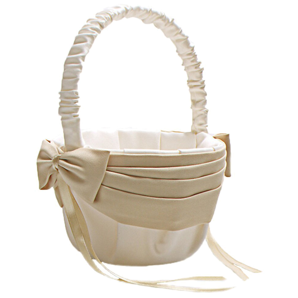 Online shop shower basket wedding accessories champagne rose square practical boutique flower girl basket wedding collection traditional ivory izmirmasajfo