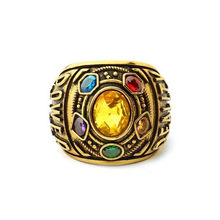 Power Ring Infinity Wars Thanos Jewelery Letter Men's Ring Fashion Jewelry Couples Rings Bijouterie Accessories*30 dropshipping(China)