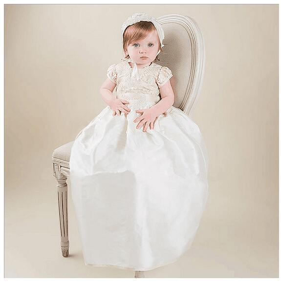 Girl's Pageant Christening Dress 2017 Flower Girls Princess Dresses Kids Birthday Party Formal Dress Children Long Wedding Dress top quality new girls pageant dresses for baby children princess flower girl dresses kids formal wedding party christening gown