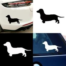Cute Dachshund Dog Car Styling Vehicle  Body Window Decals Sticker Decoration