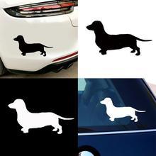 Sevimli Dachshund köpek araba styling araç gövde pencere çıkartmaları Sticker dekorasyon