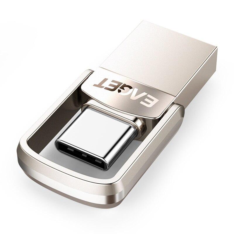 EAGET CU20 USB Flash Drive 32 gb OTG Métal USB 3.0 Pen Drive Key 64 gb Type C Haute Vitesse mini-clé usb Flash Drive Memory Stick