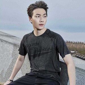 Image 4 - Xiaomi 90 uomo che assorbe lumidità T shirt monopezzo tessitura ioni dargento antibatterico manica corta asciugatura rapida fitness da corsa