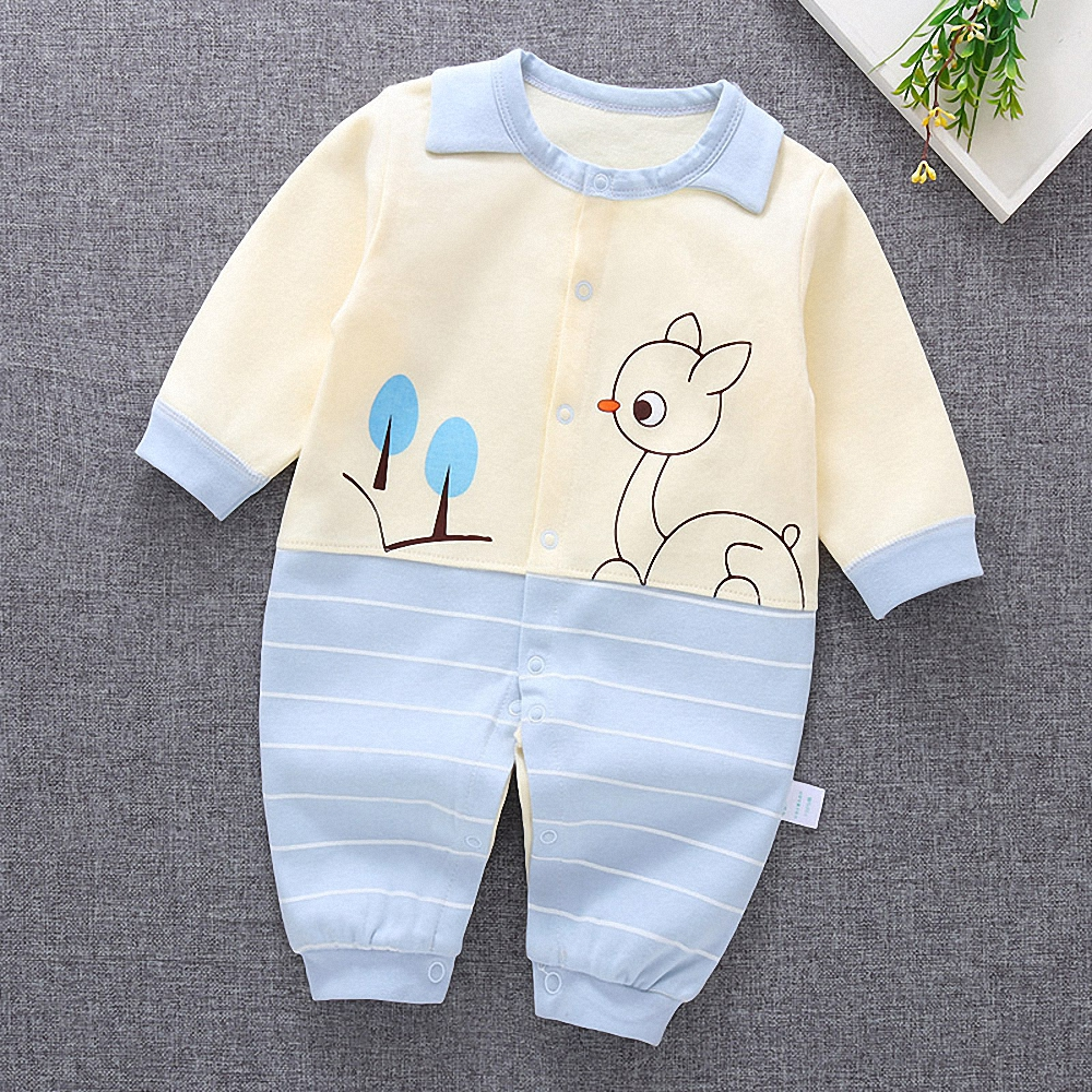 100% Quality 2019 Cute Carton Animal Baby Boy Girl Blue Cotton Soft Romper Jumpsuit Outfit For Kid Clothes Toddler Children Newborn Mother & Kids