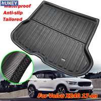 For Volvo XC40 2017 2018 2019 Tailored Boot Liner Tray Rear Trunk Cargo Liner Mat Floor Sheet Carpet Tray Waterproof Antislip