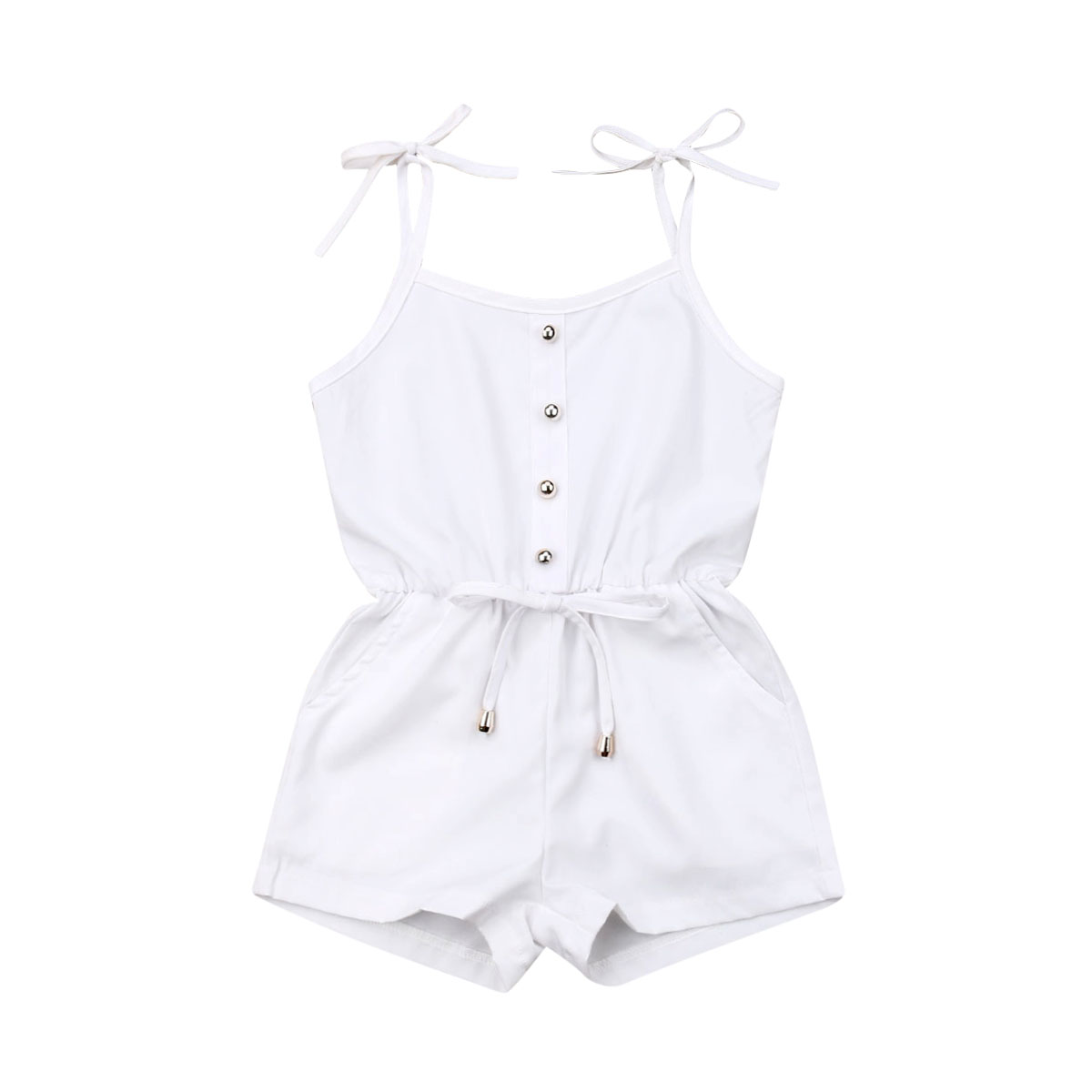 Baby Summer Clothes 2019 Toddler Kid Baby Girl Sleeveless Ruffle Romper Casual Jumpsuit Outfit Clothes 0-3Y