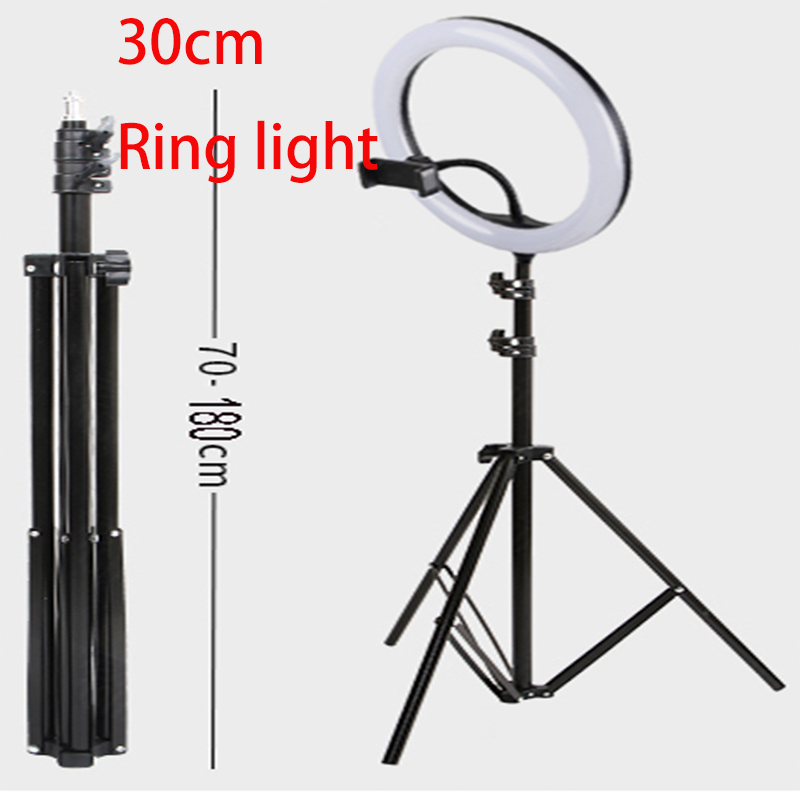 Ring Light Phone 180cm Tripod With 1pc Remote Control 1pc Phone Holder 1pc Tripod 10inch Ring Led Lighting For Selfies Photo