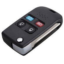 MAYIRE Folding 4 Button Flip Remote Key Fob Case Shell for Ford Lincoln Mercury Mountaineer Sable Aviator