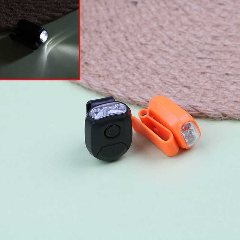 3LED фары Кепки светильник 90 градусов поворотный зажим-на шапке светильник хэндс-фри яркая фара Фонари кемпинг езда на велосипеде