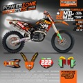 Custom Team Graphics & Backgrounds Decals 3M Customized DHL style Sticker For KTM SX SXF XCW EXCF EXC 2003-2017 125 250 530