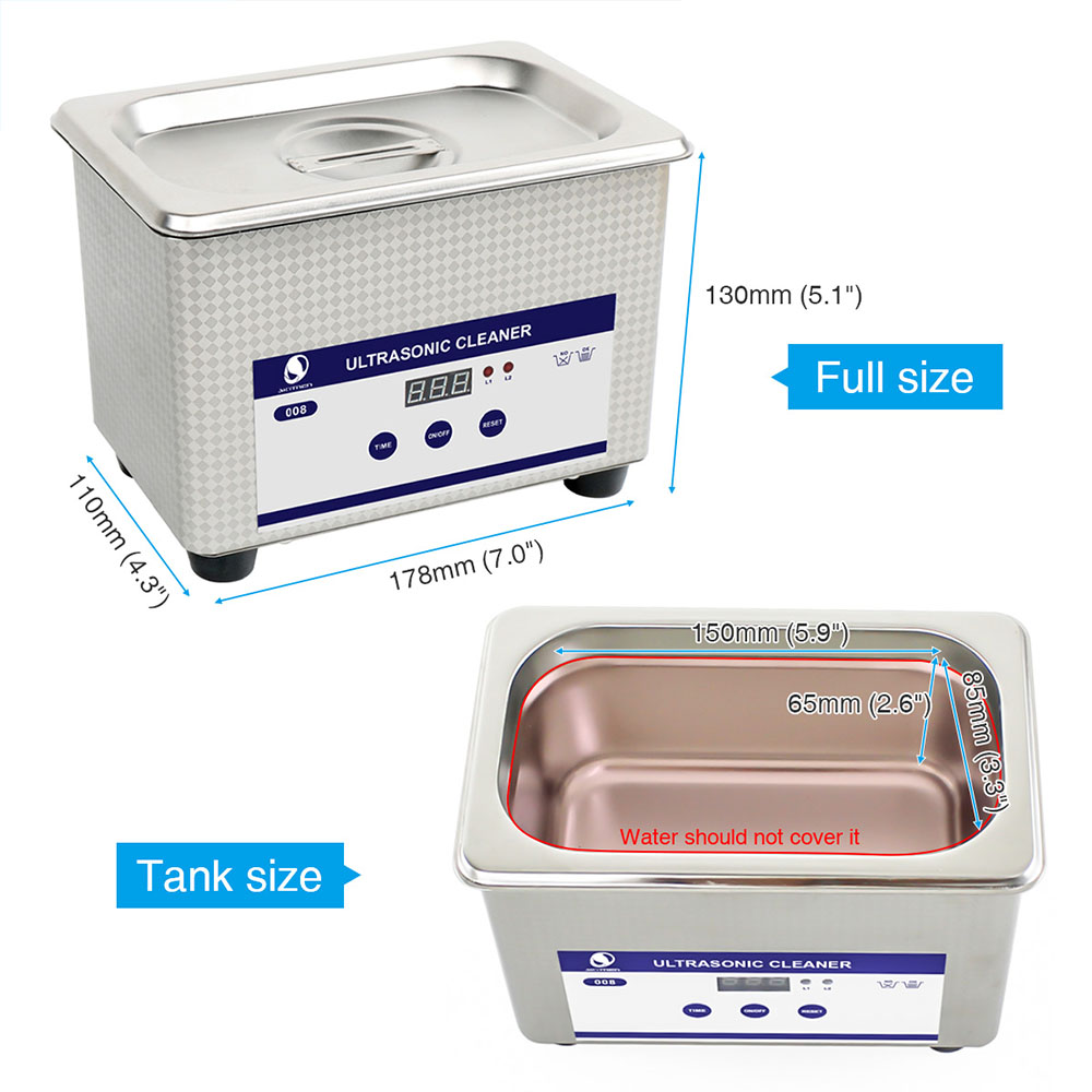 Skymen Digital Ultrasonic Bath 08l 35w 40khz For Manicure 50w 220v Generator Circuit Jewelry Watches Denture Chain Cleaner Jp 008 Model In Cleaners From Home