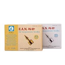 100 parça/kutu EAN akupunktur steril kulak tek kullanımlık iğne steril kulak basın E.A.N iğneler Auricular akupunktur iğnesi