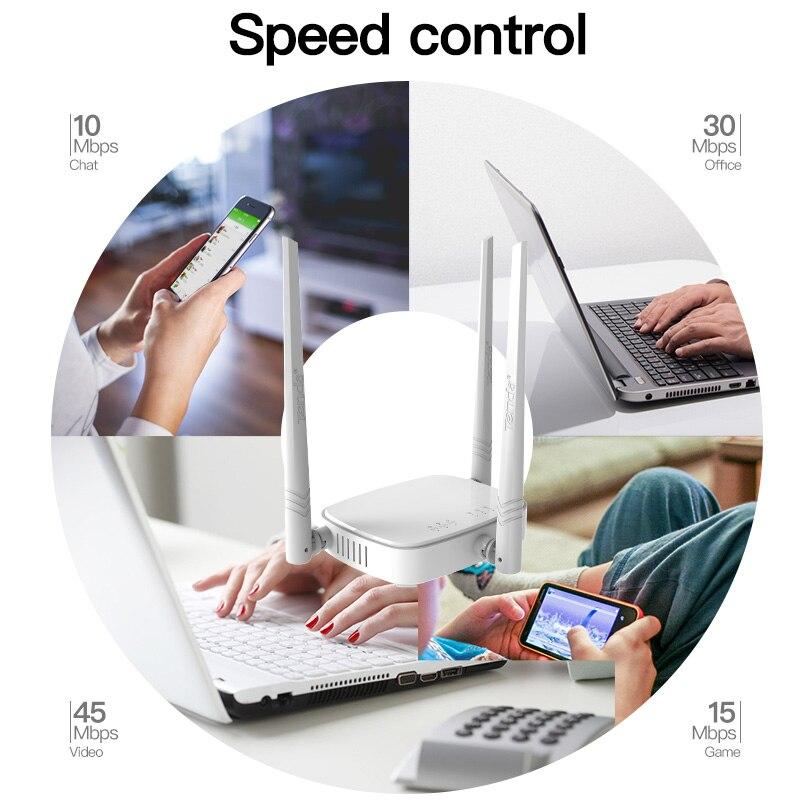 Tenda N318 300 Мбит/с беспроводной WiFi маршрутизатор Wi-Fi ретранслятор, многоязычная прошивка, маршрутизатор/WISP/ретранслятор/модель AP, 1WAN + 3LAN RJ45 пор...