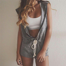 Women Hooded rompers Jumpsuit Faddish 2017 Sleeveless Products Summer Personality Available