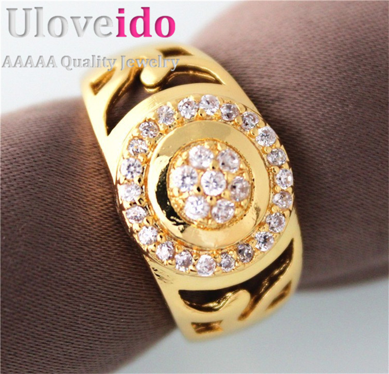 Almei 49 Off Fashion Gold Color Men Ring Jewelry Wedding Rings