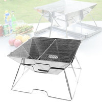 Multi function Stainless Steel BBQ Grill Portable Camping Grill Folding Charcoal BBQ Grill Rack For Kitchen Barbecue Accessories