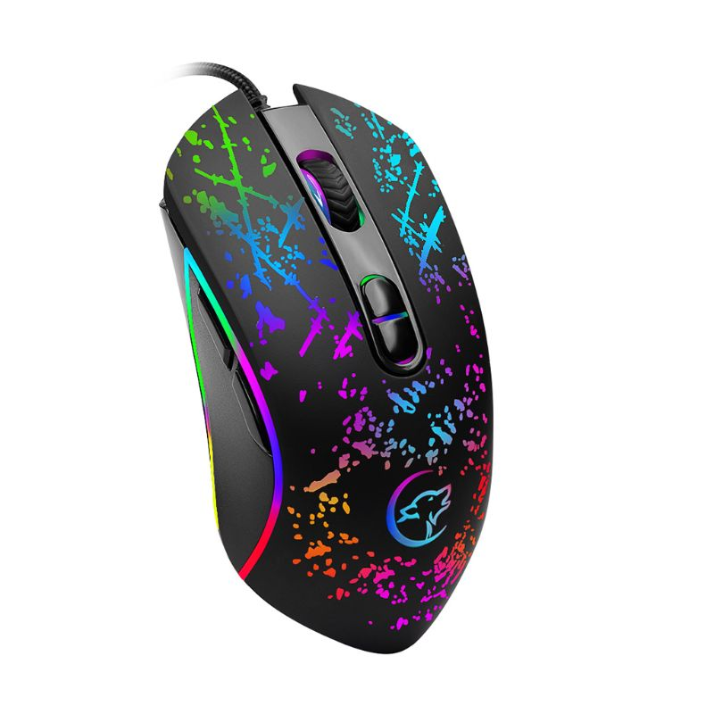 USB Wired Optical Mechanical Gaming Mouse Adjustable 3200DPI PC Laptop Computer Mice For Windows 2000 XP Win7 Win8 4 Light Mode