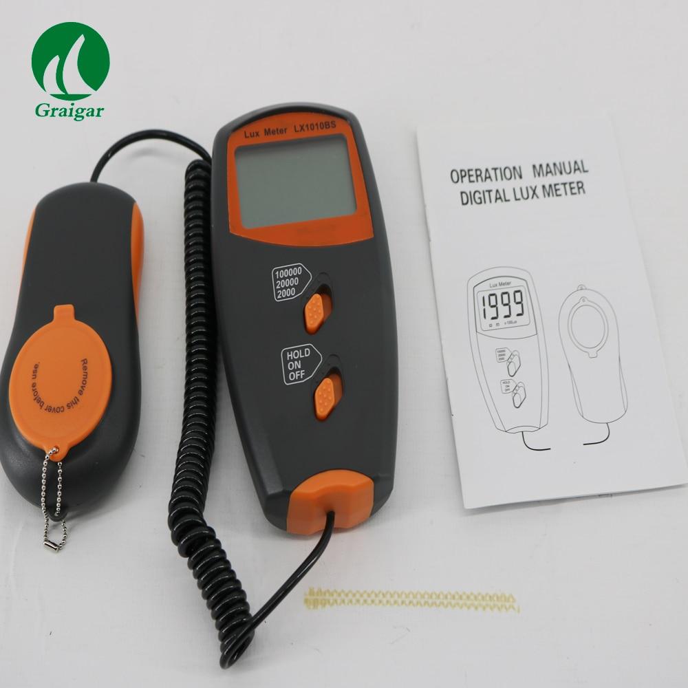 Precise Light meter Handheld digital lux meter LX1010BS light measurement Range:1~100,000Lux Electronic testing equipment