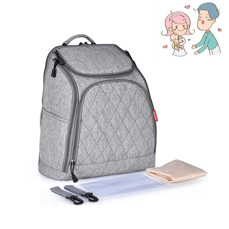 INSULAR Mother Tote Bag Baby Nappy Changing Carriage Bag Large Capacity Maternal Mummy Diaper Backpack On Baby Stroller Bags diaper bag large capacity mummy package multifunction pregnant mother backpack for mum bolso maternal baby nappy changing bag