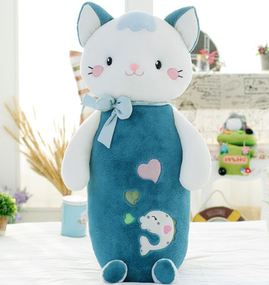 lovely  new creative cat doll plush toy cat doll soft long pillow large 75cm, Christmas gift x074 lovely giant panda about 70cm plush toy t shirt dress panda doll soft throw pillow christmas birthday gift x023