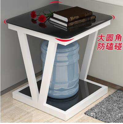 Side a few. Modern simple living room mini tea table. Glass small square table.2 simple modern toughened glass small round bar table living room home leisure fashion high round table
