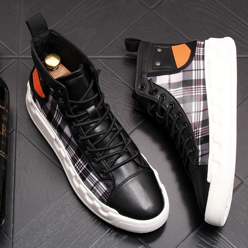 Stephoes Luxury Brand Men Casual Ankle Boots Spring Autumn High Top Men's Vulcanize Comfortable Sneakers Walking Leisure Shoes-in Men's Casual Shoes from Shoes on Aliexpress.com | Alibaba Group 42