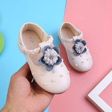Girls Leather Shoes Princess Flowers Kids Shoes 2019 Spring Autumn Fashion Bow Soft Bottom Baby Toddler Girls Shoes Pink White girls leather shoes 2019 spring autumn children flat with princess shoes pu baby girls hook loop antiskid soft bottom shoes 242