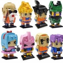 Dragon Ball Z Legoing Brickheadz SuperHero IronMan Marvel Batman set Model Building Block Bricks Heads Toy for Kids(China)