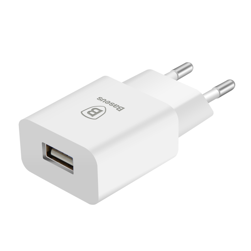 Baseus 5V 2.1A EU Plug Mini USB Charger for Samsung Xiaomi Mobile Phone Charger Adapter Travel Wall Charger for iPhone Charger 1