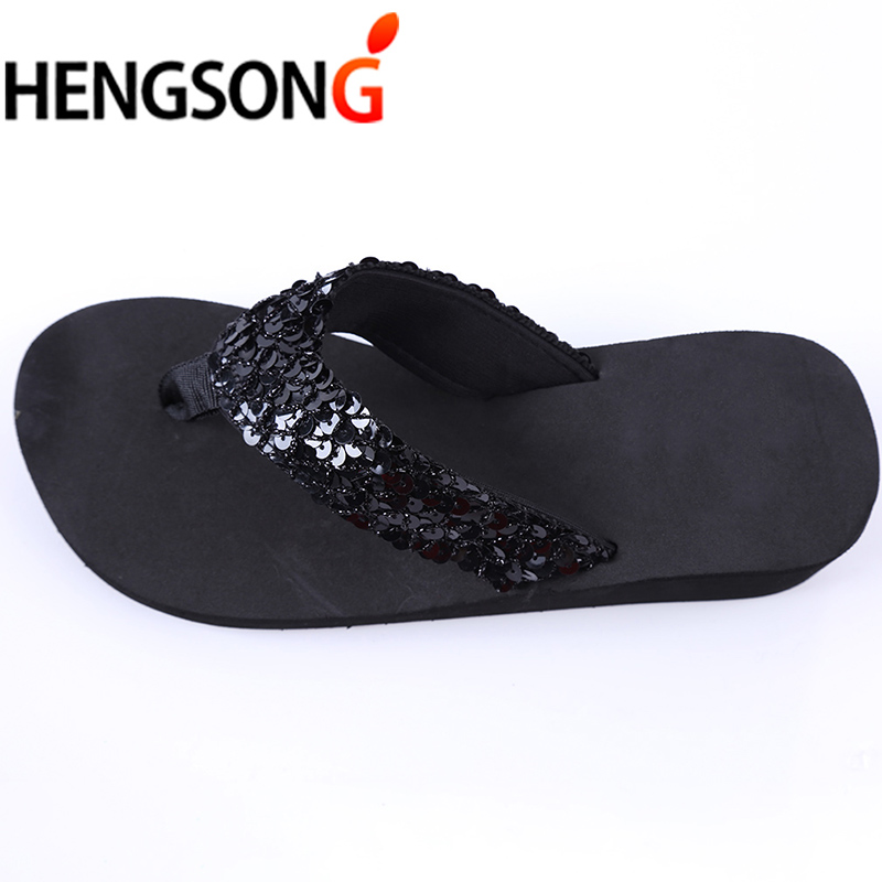 HENGSONG Women Flip Flops female Sandals Summer Sequins Beach Slippers  Women Sandals Cross Flat Shoes Women Flip Flops Cheap-in Flip Flops from  Shoes on ... 8b397f053107