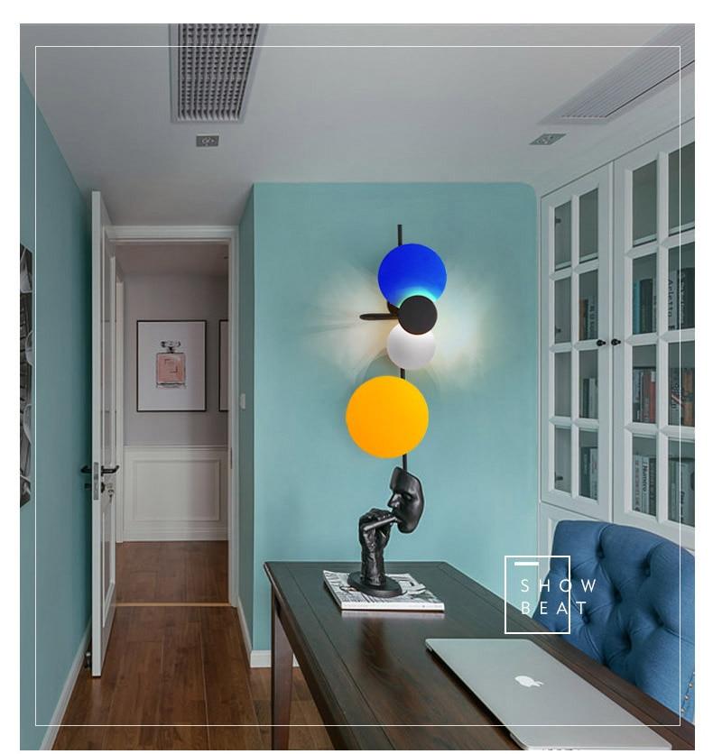 luz parede luzes do corredor personalidade criativa quarto lâmpadas led