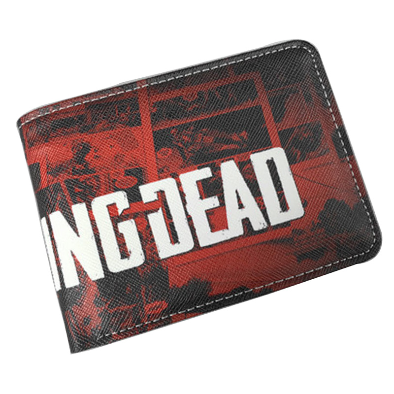New Arrival Men Wallets Walking Dead Short PU Leather Big Capacity Purse Man Boy Gift Money Bags Dollar Price Card Holder Wallet