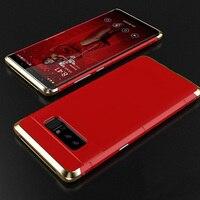 Ultra Slim Aluminium Ramy Skrzynki + PC Mężczyźni Metalowe etui na Telefony komórkowe Dla Samsung Galaxy S8/S8 Plus/uwaga 8 Aluminium Metal Skrzynki Pokrywa