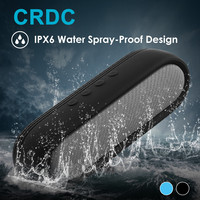 CRDC Quality Dual 5W Stereo Wireless Bluetooth Speaker Super Bass Waterproof Portable Outdoor Loudspeaker for iPhone Xiaomi etc
