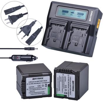 2Pcs VW-VBG260 VW VBG260 VW-VBG130 VW VBG130 Rechargeable Battery + Fast LCD Dual Charger for Panasonic HS250 SDR-SD7 HDC-MDH1
