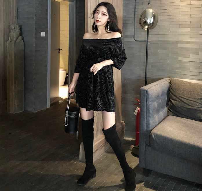 Ucuz toptan 2019 yeni bahar yaz sonbahar sıcak satış kadın moda rahat seksi elbise BC104
