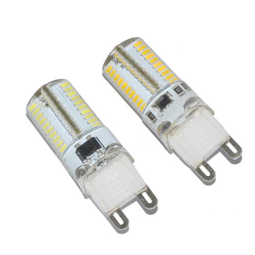 Foxanon Brand Dimmable G9 Led Light 3014 SMD 80Leds 7W 110V 127V Led Lamps G9 Dimming Corn Bulb Silicone Dimmer  5pcs/Lot
